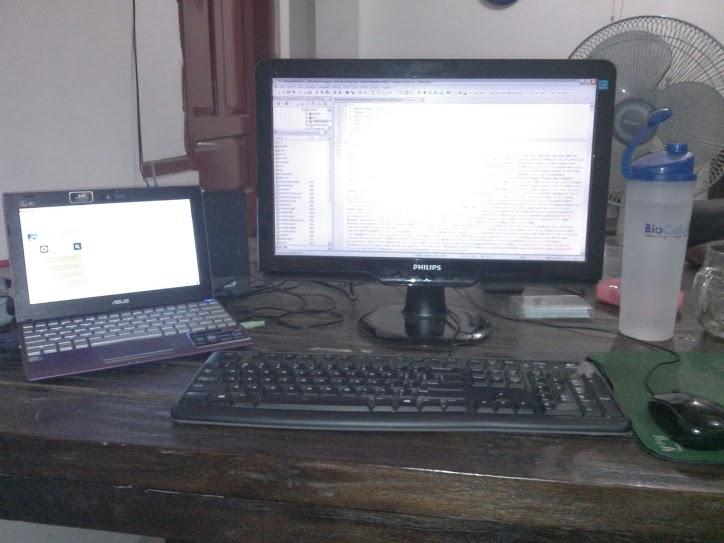 EEEPC 1025CE Dual Monitor
