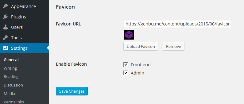 favicon-settings