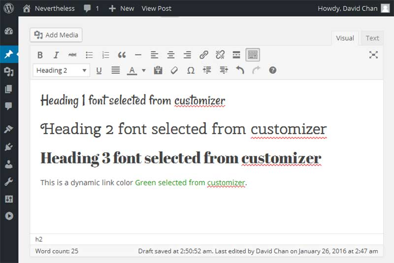 Dynamic-Editor-Styles