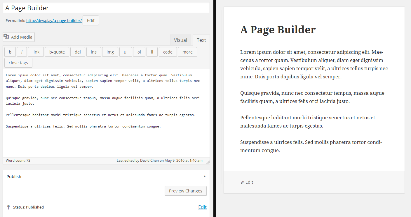 page-builder-back-front-clean-data
