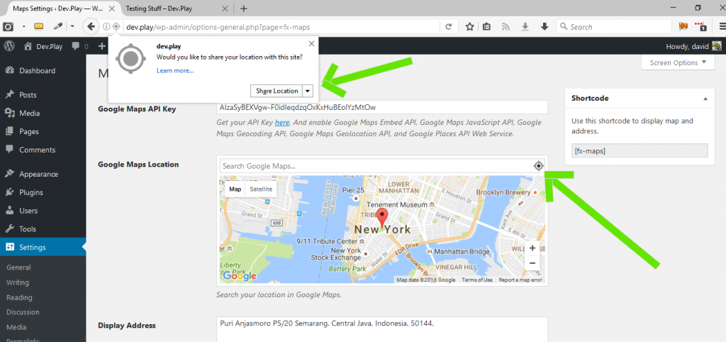 How to Get Current Address Using HTML 5 Geolocation and